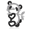 Heart Panda Bear Brooch