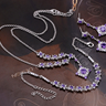 Gorgeous Rhodium Plated CZ Jewelry Set