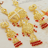 Classical 18KGP CZ Indian Jewelry Set