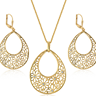 Goldtone Floral Set