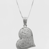 Heart Necklace With Genuine Clean Diamonds RETAIL PRICE $360