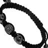 TRESOR PARIS Bracelet Grey Crystal Magnetite Black cord