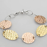 DV ITALY Exquisite Bracelet Beautifully Crafted in 14K/925 Gold plated Silver.