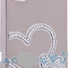 Luxury Heart Swarovski Crystal Case Cover for iPhone 4 4S