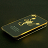 SCORPIO zodiac Shape Sense LED Flash light Case Cover for Apple iPhone 4 4G 4S