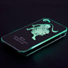 LEO zodiac Sense LED Flash light Case Cover for Apple iPhone 4 4G 4S