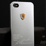 Silver Ferrari Sports Aluminum Cars Cases Cover Skin Real House for Apple iPhone 4S 4 S