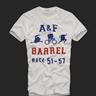 Abercrombie men Lumber Road White T-shirt
