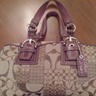 Coach hand bag purple