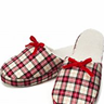 ivory plaid slippers