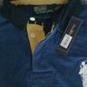 Custom Fit Big pony Polo Blue and White Logo