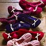 Velvet ballet slipper