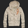 Abercrombie for men grey hoodie jacket