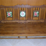 Antique pink roses Bench